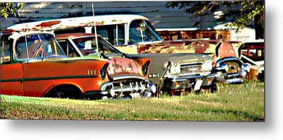 Metal Print featuring the digital art My Cars by Cathy Anderson