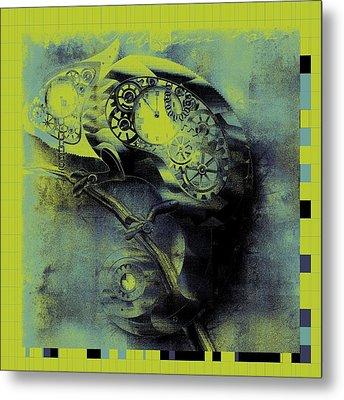 Chameleon - Lime - 01b02 Metal Print