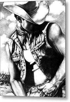 My Cowboy Man Metal Print by RjFxx at beautifullart com