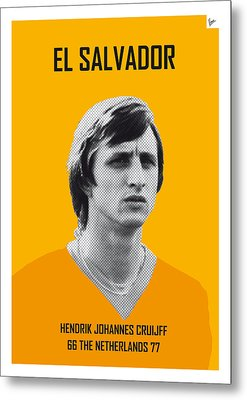 My Cruijff Soccer Legend Poster Metal Print by Chungkong Art