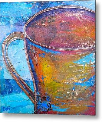 My Cup Of Tea Metal Print by Debi Starr
