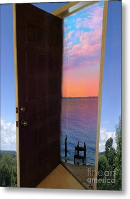 My Door To Success Metal Print by Becky Lupe