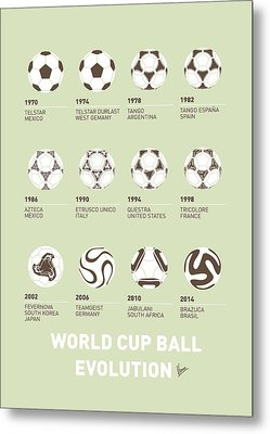 My Evolution Soccer Ball Minimal Poster Metal Print by Chungkong Art