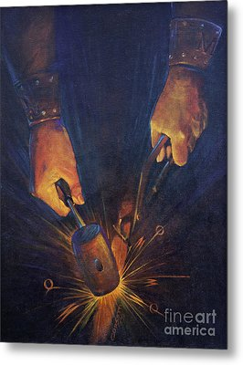 My Fathers Hands Metal Print by Rob Corsetti