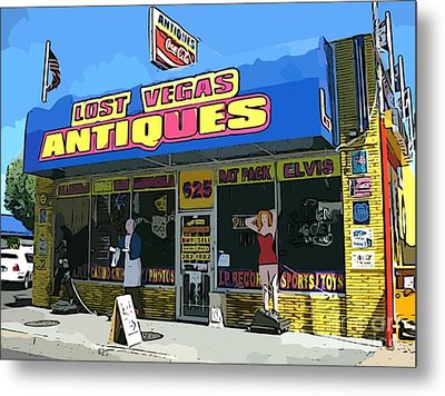 My Favorite Vegas Antique Store Metal Print by John Malone