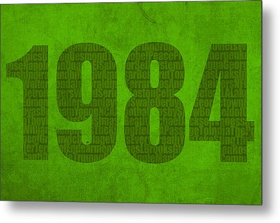 My Favorite Year 1984 Word Art On Canvas Metal Print by Design Turnpike