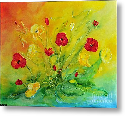 Metal Print featuring the painting My Favourite by Teresa Wegrzyn