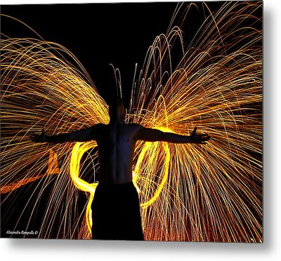 My Fire Angel Metal Print by Alexandra  Rampolla