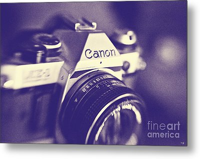 My First Canon  Metal Print by Scott Pellegrin