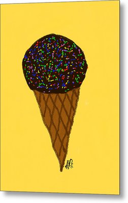 My First Ice Cream Cone Metal Print