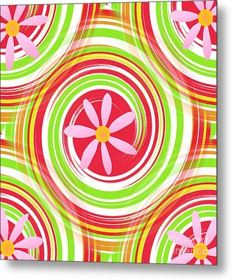Metal Print featuring the digital art My Girl Room   Colorful Art  By Saribelle Rodriguez by Saribelle Rodriguez