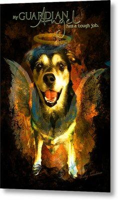 Metal Print featuring the digital art My Guardian Angel - Hollister by Kathy Tarochione