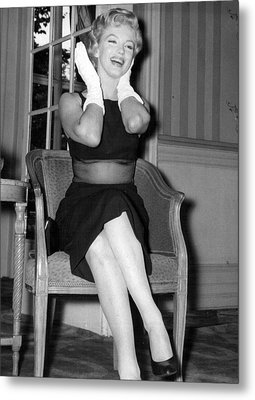 Bashful Marilyn Monroe Metal Print by Retro Images Archive