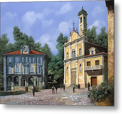 My Home Village Metal Print