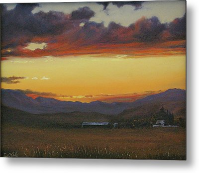 My Home's In Montana Metal Print by Mia DeLode