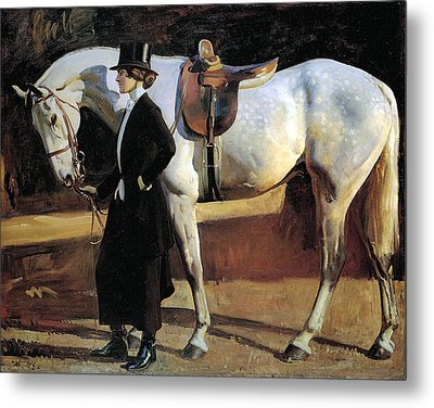 My Horse Is My Friend  Metal Print by Alfred James Munnings