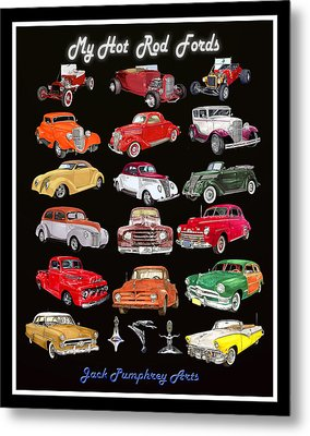 My Hot Rod Ford Poster Metal Print by Jack Pumphrey