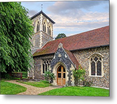 My House Is Yours - Ancient Stone Church Metal Print by Gill Billington