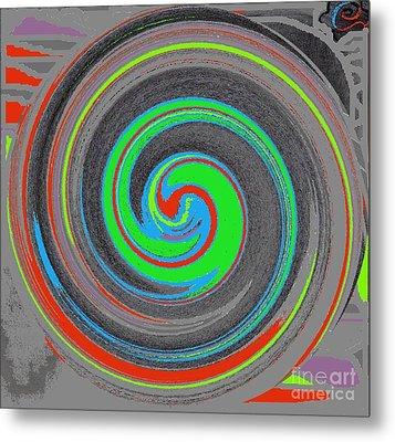 Metal Print featuring the digital art My Hurricane by Catherine Lott