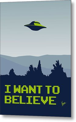 My I Want To Believe Minimal Poster Metal Print