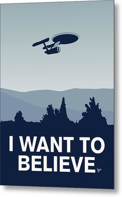 My I Want To Believe Minimal Poster-enterprice Metal Print by Chungkong Art