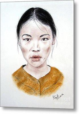 My Kuiama A Young Vietnamese Girl  Metal Print by Jim Fitzpatrick