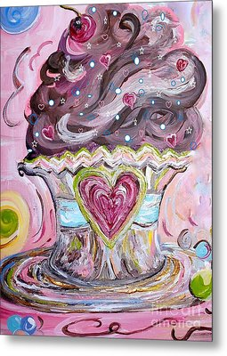 My Lil Cupcake - Chocolate Delight Metal Print by Eloise Schneider