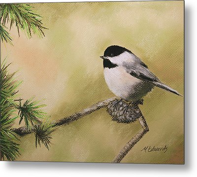 My Little Chickadee Metal Print by Marna Edwards Flavell