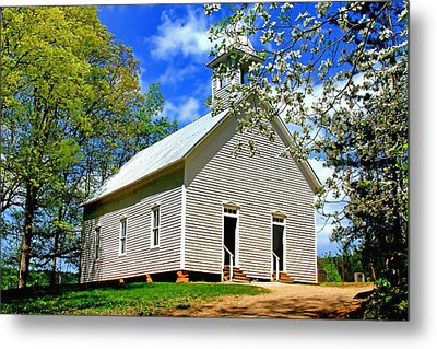 Metal Print featuring the photograph My Little Country Church by Geraldine DeBoer