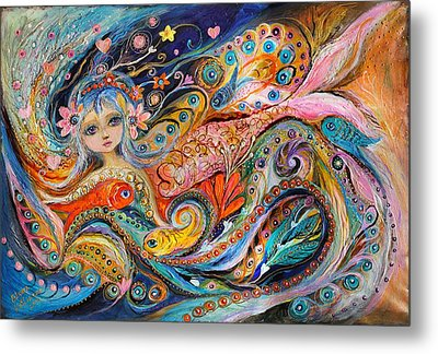My Little Mermaid Lucille Metal Print by Elena Kotliarker