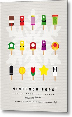 My Mario Ice Pop - Univers Metal Print
