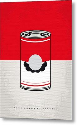 My Mario Warhols Minimal Can Poster-mario Metal Print by Chungkong Art