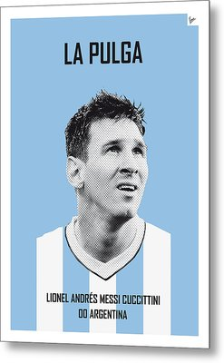 My Messi Soccer Legend Poster Metal Print