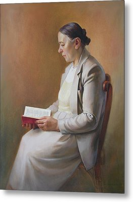 My Mother Reading The Bible Metal Print