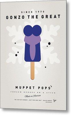 My Muppet Ice Pop - Gonzo Metal Print by Chungkong Art