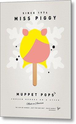 My Muppet Ice Pop - Miss Piggy Metal Print by Chungkong Art
