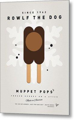 My Muppet Ice Pop - Rowlf Metal Print by Chungkong Art