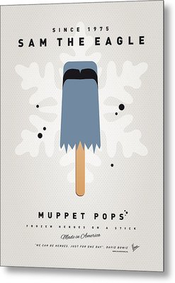 My Muppet Ice Pop - Sam The Eagle Metal Print by Chungkong Art