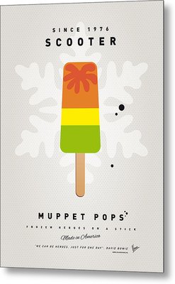 My Muppet Ice Pop - Scooter Metal Print by Chungkong Art