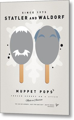 My Muppet Ice Pop - Statler And Waldorf Metal Print by Chungkong Art