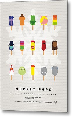 My Muppet Ice Pop - Univers Metal Print by Chungkong Art