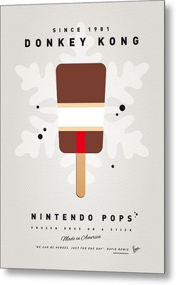 My Nintendo Ice Pop - Donkey Kong Metal Print by Chungkong Art