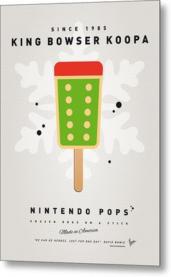 My Nintendo Ice Pop - King Bowser Metal Print