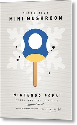 My Nintendo Ice Pop - Mini Mushroom Metal Print