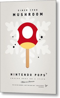 My Nintendo Ice Pop - Mushroom Metal Print