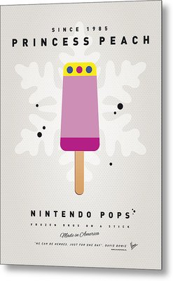 My Nintendo Ice Pop - Princess Peach Metal Print