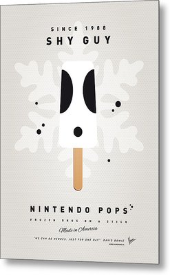 My Nintendo Ice Pop - Shy Guy Metal Print