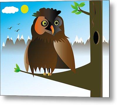 My Owl Metal Print by Kenneth Feliciano
