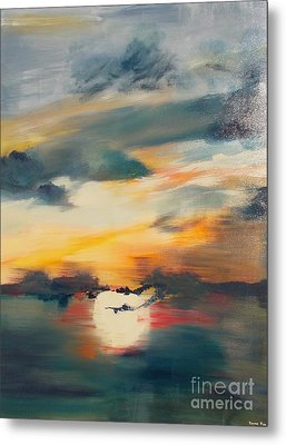 Metal Print featuring the painting My Paradise Sunrise by PainterArtist FIN