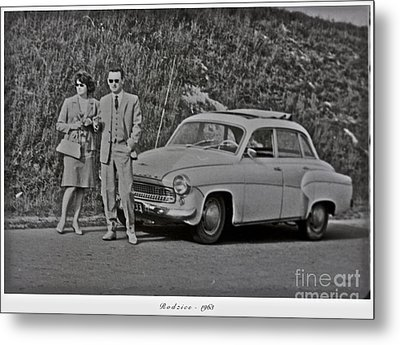 My Parents Were Awesome .  Days Gone By Good Goin.1963. Photographer Andrzej Goszcz. Metal Print by  Andrzej Goszcz